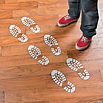 Religious Snow Tracks Footprint Floor Decals