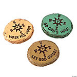 Inspirational Compass Worry Stones