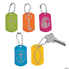 Faith Verse Dog Tag Key Chains