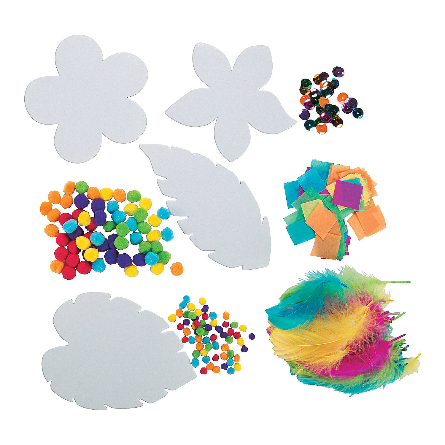 Flowers leaves sticky board craft kit oriental trading for Sticky boards for crafts