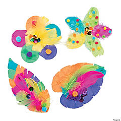 Flowers & Leaves Sticky Board Craft Kit