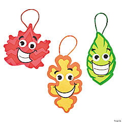 Silly Face Leaf Ornament Craft Kit