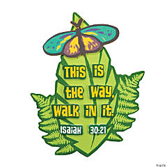 Walk His Way Leaf Clip Magnet Craft Kit