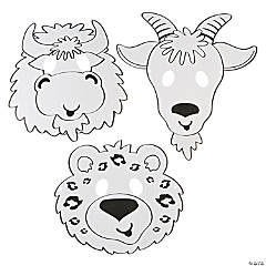 Color Your Own Mountain Animal Masks
