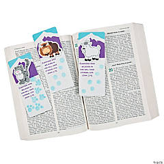 Paws in Snow Thumbprint Bookmark Craft Kit