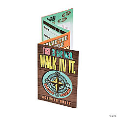 Walk His Way Activity Fold-Up Sheets