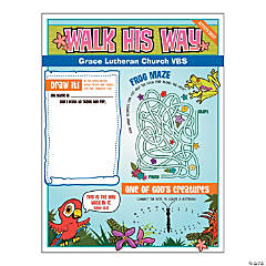 Personalized Walk His Way Activity Sheets