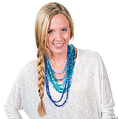 DIY Stackable Aqua Ombre Beaded Necklace Idea
