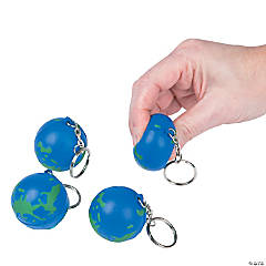 Globe Stress Ball Key Chains