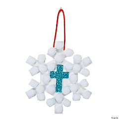 Pom-Pom Snowflake Ornament Craft Kit