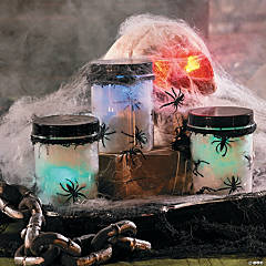 Glowing Spider Jars Idea