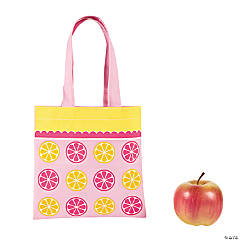 Nonwoven Polyester Small Lemonade Party Tote Bag