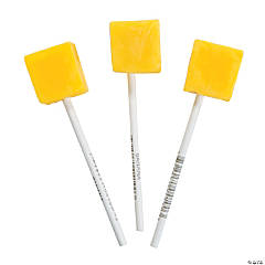 Yellow Cube-Shaped Suckers
