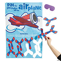 Paper Pin the Propeller on the Airplane Game