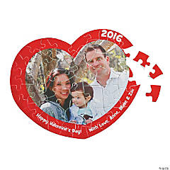 Custom Photo Heart-Shaped Valentine Puzzles