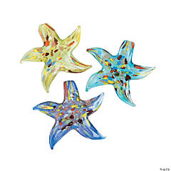 Multi-Colored Starfish Pendants - 57mm