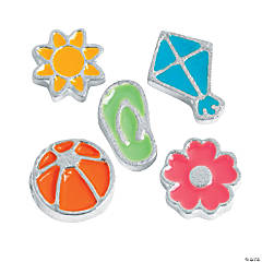 Silvertone Summer Fun Floating Charms