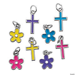 Mini Crosses & Flower Charms