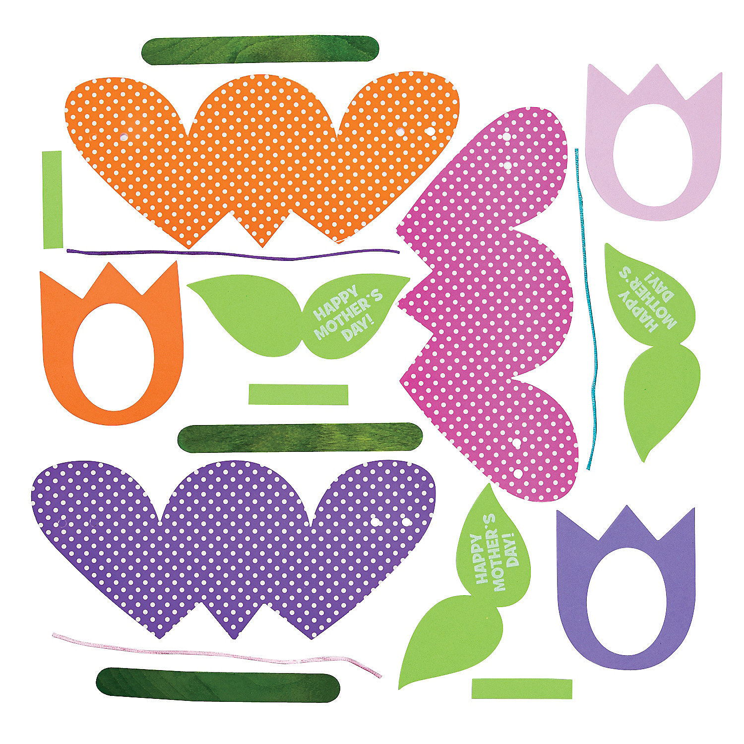 mother s day tulip card craft kit oriental trading