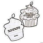 Color Your Own Sweetest Mom Cupcake Flip Cards