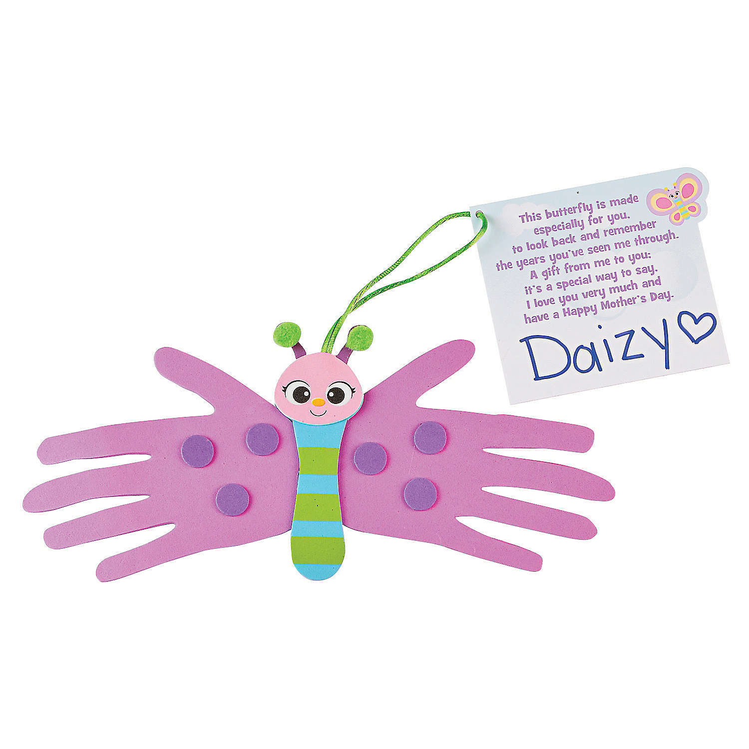 Mother s day handprint butterfly craft kit handprint for Butterfly hands craft