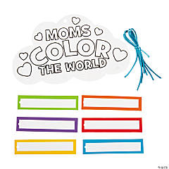 Color Your Own Mom's Color the World Mobiles