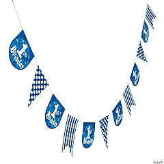 Blue 1st Birthday Garland