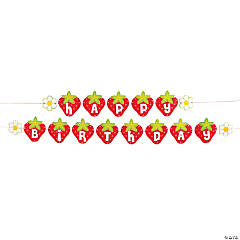 Berry 1st Birthday Garland