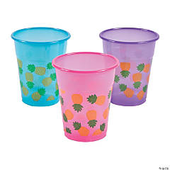 Bright Pineapple Disposable Cups