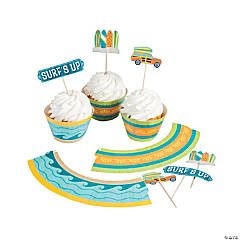 Surf's Up Cupcake Wrappers with Picks