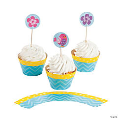 Tweet 1st Birthday Cupcake Wrappers with Picks