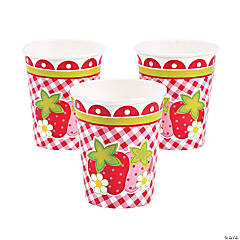 Paper Berry 1st Birthday Party Cups