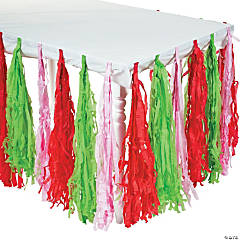 Berry 1st Birthday Fringe Table Skirt