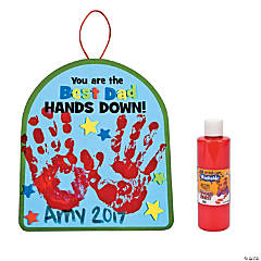 Best Dad Hands Down Handprint Craft Kit