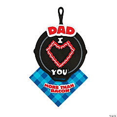 Dad I Love You More Than Bacon Magnet Craft Kit