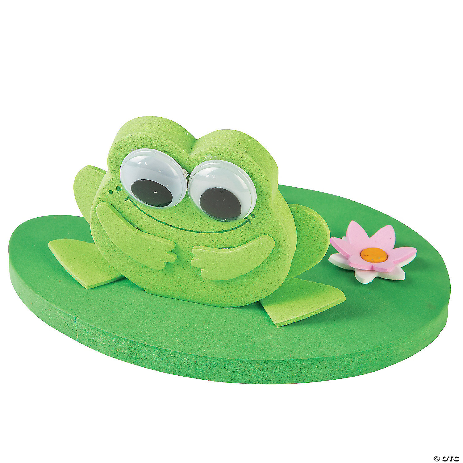 Frog Lily Pad Craft 3d Floating Frog on a Lily Pad