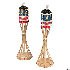 Patriotic Tabletop Tiki Torches