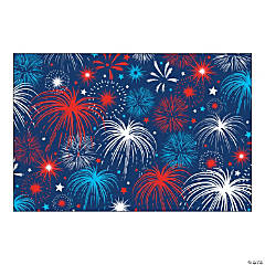 Patriotic Bursts Backdrop Banner