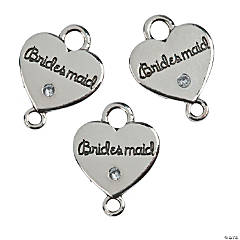 Bridesmaid Charms with Rhinestone
