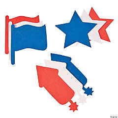 Jumbo Patriotic Foam Shapes