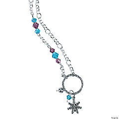 Winter Snowflake Necklace Idea