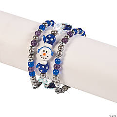 Snowman & Snowflake Stacking Bracelets Idea