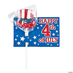 4th of July Lollipops with Cards