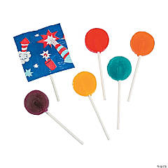 Firecracker-Printed Lollipops