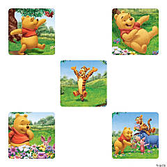 Playful Pooh Stickers