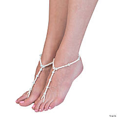 White Barefoot Sandals