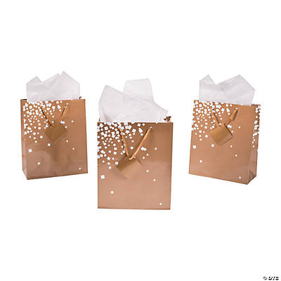 White Gold Gift Bags White Gold