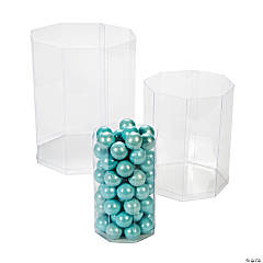 Clear Octagon Candy Buckets