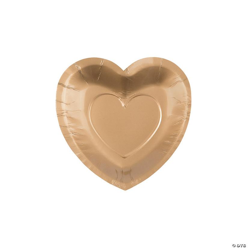 sc 1 st  Oriental Trading & Gold Heart Shaped Paper Dessert Plates