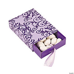 Purple & Lilac Wedding Pull Favor Boxes